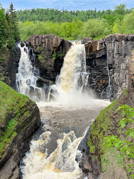 high falls - grand portage state park, mn