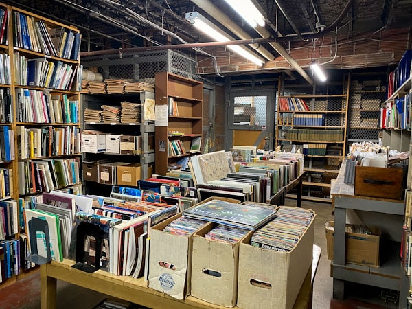 midway used and rare books basement