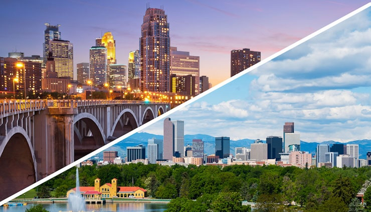 living in denver vs. minneapolis