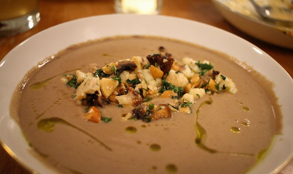 restaurant week - mushroom soup